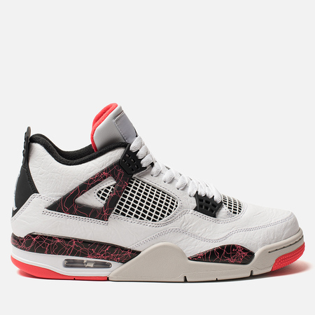 Мужские кроссовки Jordan Air Jordan 4 Retro White Black Bright Crimson df4b09957e68a