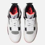 Мужские кроссовки Jordan Air Jordan 4 Retro White/Black/Bright Crimson фото- 2