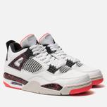 Мужские кроссовки Jordan Air Jordan 4 Retro White/Black/Bright Crimson фото- 3