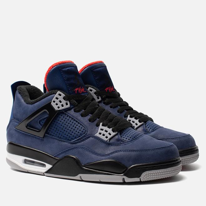 Мужские кроссовки Jordan Air Jordan 4 Retro Winter Loyal Blue/Black/White/Habanero Red