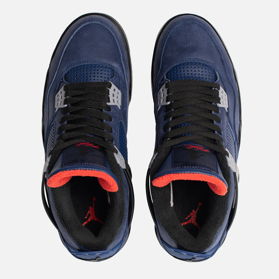 Мужские кроссовки Jordan Air Jordan 4 Retro Winter Loyal Blue/Black/White/Habanero Red
