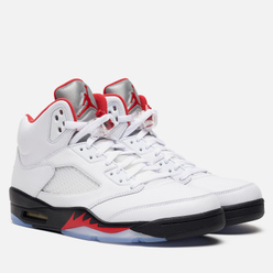 Мужские кроссовки Jordan Air Jordan 5 Retro True White/Fire Red/Black