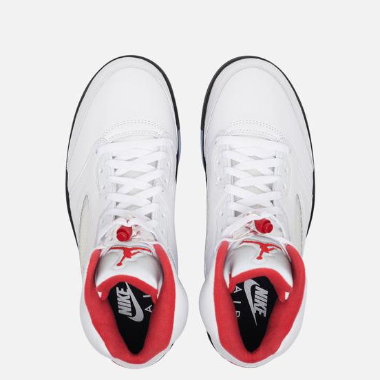 Мужские кроссовки Jordan Air Jordan 5 Retro True White/Fire Red/Black