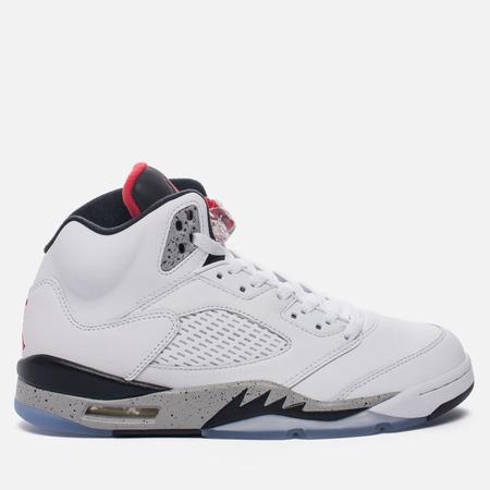 Мужские кроссовки Jordan Air Jordan 5 White/University Red/Black/Metallic Silver