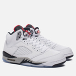 Мужские кроссовки Jordan Air Jordan 5 White/University Red/Black/Metallic Silver фото- 2