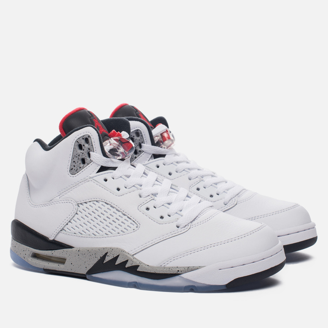 Мужские кроссовки Jordan Air Jordan 5 White/University Red/Black/Metallic Silver