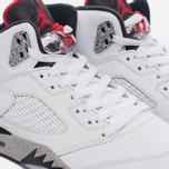 Мужские кроссовки Jordan Air Jordan 5 White/University Red/Black/Metallic Silver фото- 3