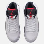Мужские кроссовки Jordan Air Jordan 5 White/University Red/Black/Metallic Silver фото- 4