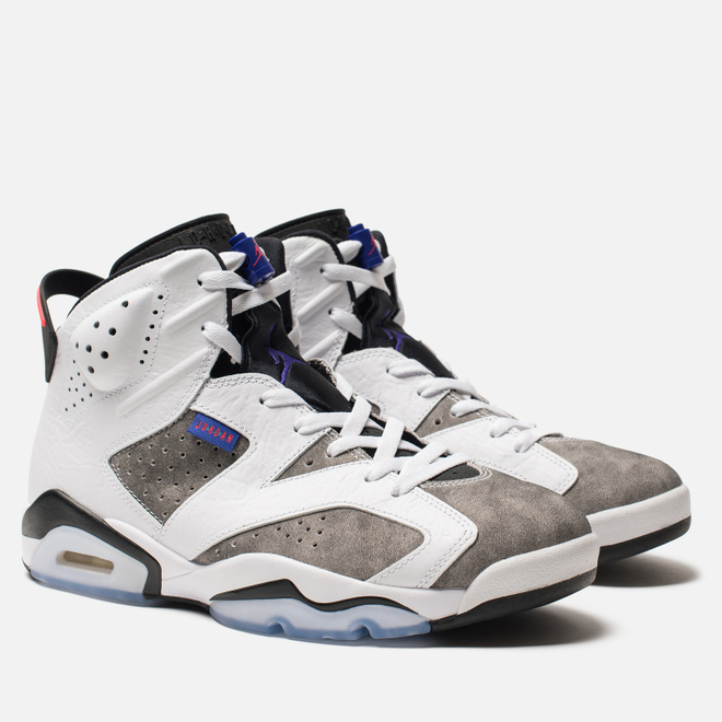Мужские кроссовки Jordan Air Jordan 6 Retro Leather White/Black/Infrared 23/Dark Concord