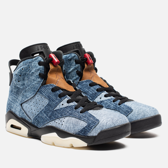 Мужские кроссовки Jordan Air Jordan 6 Retro Washed Denim/Black/Sail/Varsity Red
