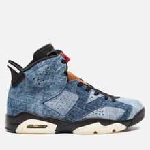 Мужские кроссовки Jordan Air Jordan 6 Retro Washed Denim/Black/Sail/Varsity Red фото- 3