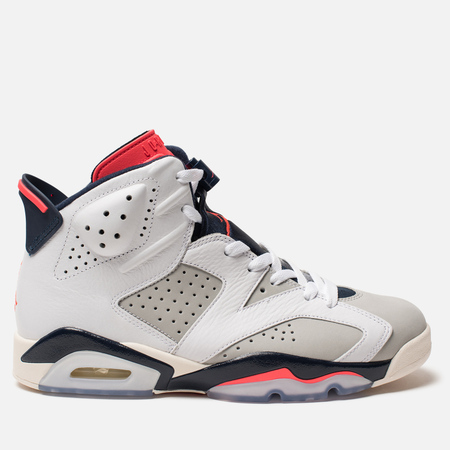 Мужские кроссовки Jordan Air Jordan 6 Retro White/Infrared 23/Neutral Grey/White