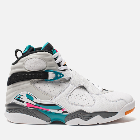 Мужские кроссовки Jordan Air Jordan 8 Retro White/White/Turbo Green/Neutral Grey