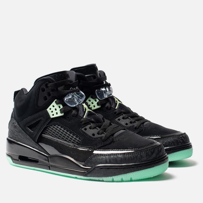 Мужские кроссовки Jordan Spizike Black/Green Glow/Anthracite