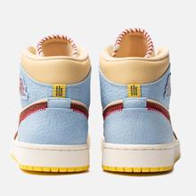 Мужские кроссовки Jordan x Maison Chateau Rouge Air Jordan 1 Mid SE Fearless Pale Vanilla/Cinnamon/Psychic Blue фото- 2