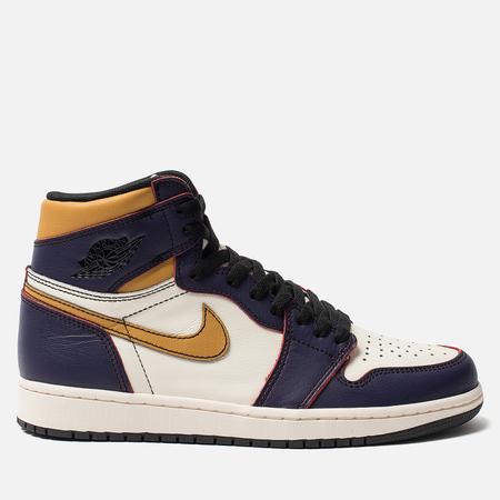 Мужские кроссовки Jordan x Nike SB Air Jordan 1 High OG Defiant Court Purple/Black/Sail/University Gold