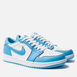 Мужские кроссовки Nike SB x Jordan x Eric Koston Air Jordan 1 Low QS Dark Powder Blue/White