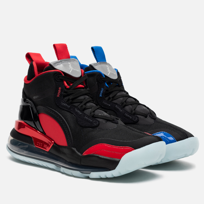Мужские кроссовки Jordan x Paris Saint Germain Aerospace 720 QS Black/Reflect Silver/University Red