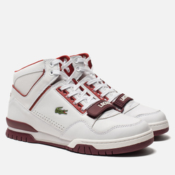 Мужские кроссовки Lacoste Missouri Mid 318 Runway White/Burgundy/Dark Red