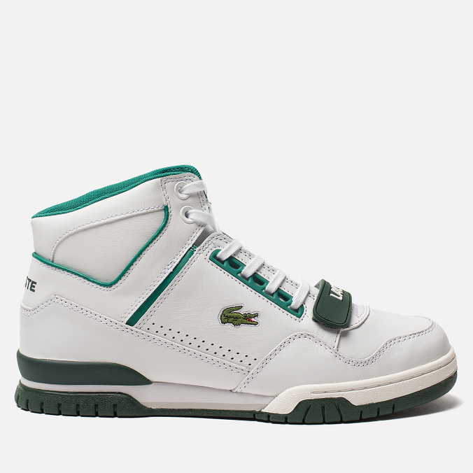 3891e792 Мужские кроссовки Lacoste Missouri Mid 318 Runway White/Dark Green/Green