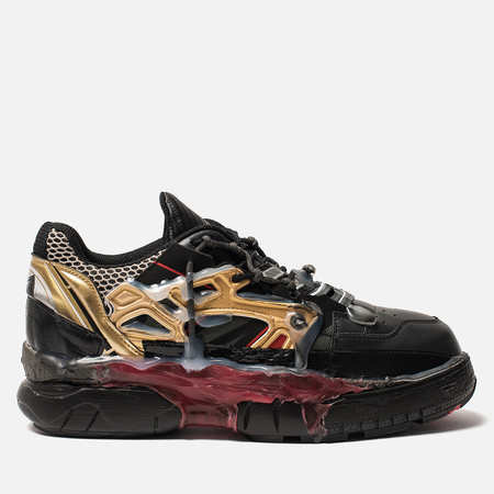 Мужские кроссовки Maison Margiela Fusion Low Top Black/Gold/Red