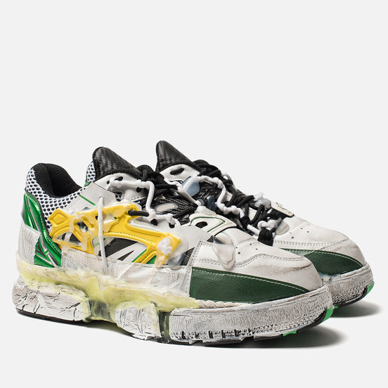Мужские кроссовки Maison Margiela Fusion Low Top Yellow/Green
