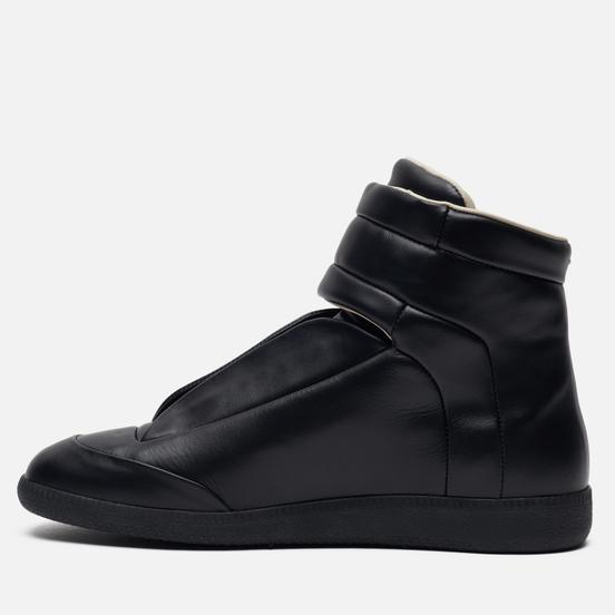 Мужские кроссовки Maison Margiela Future Leather Top High Black/Black