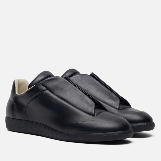 Мужские кроссовки Maison Margiela Future Leather Top Low Black/Black