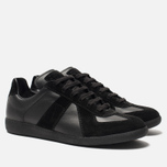 Мужские кроссовки Maison Margiela Replica Low Top Black фото- 1