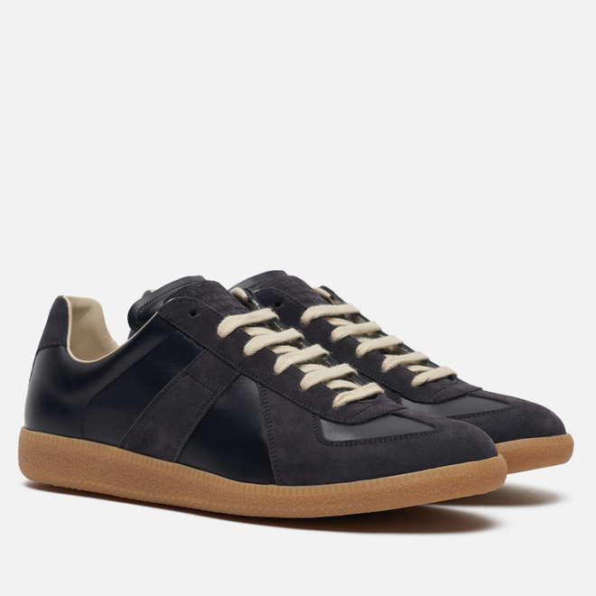 Мужские кроссовки Maison Margiela Replica Low Top Carry Over Black/Grey