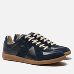 Мужские кроссовки Maison Margiela Replica Low Top Carry Over Dark Blue фото- 2