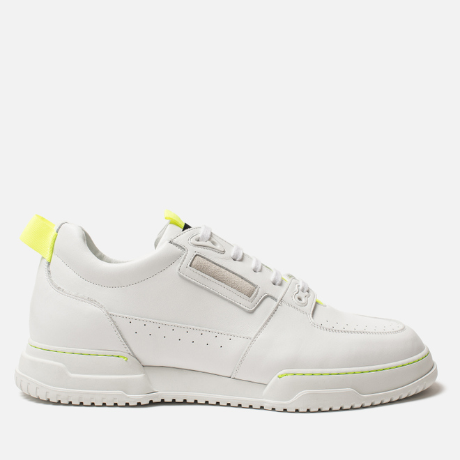 Мужские кроссовки Marcelo Burlon County Nis Low White/Fluo Yellow