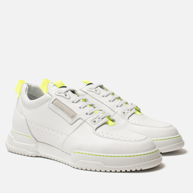 Мужские кроссовки Marcelo Burlon County Nis Low White/Fluo Yellow