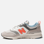 Мужские кроссовки New Balance CM997HAG White/Grey/Orange фото- 2