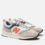 Мужские кроссовки New Balance CM997HAG White/Grey/Orange фото- 1