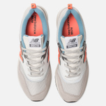 Мужские кроссовки New Balance CM997HAG White/Grey/Orange фото- 5