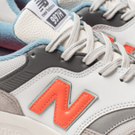 Мужские кроссовки New Balance CM997HAG White/Grey/Orange фото- 6
