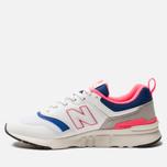 Мужские кроссовки New Balance CM997HAJ White/Pink/Blue фото- 2