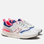 Мужские кроссовки New Balance CM997HAJ White/Pink/Blue фото- 1