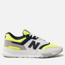 Мужские кроссовки New Balance CM997HCR White/Blue/Neon Green фото- 0