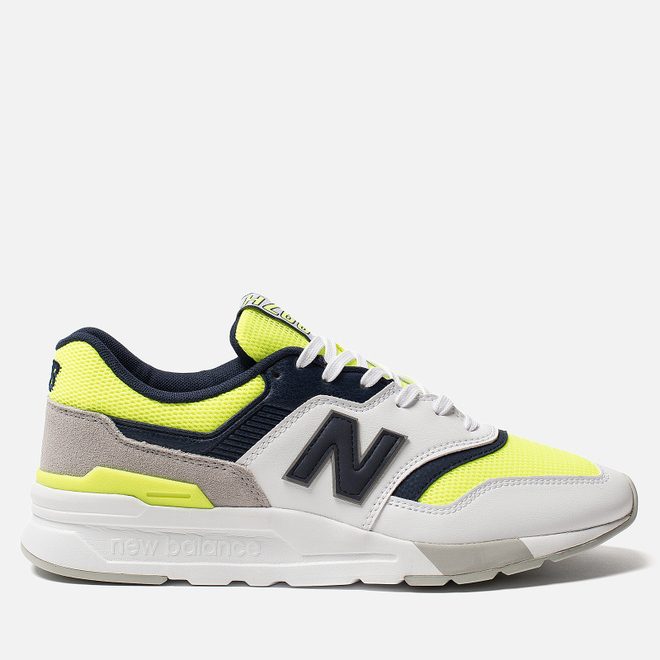 Мужские кроссовки New Balance CM997HCR White/Blue/Neon Green