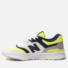 Мужские кроссовки New Balance CM997HCR White/Blue/Neon Green фото- 1