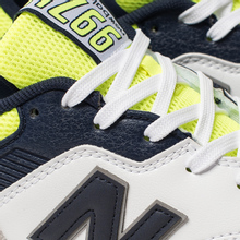 Мужские кроссовки New Balance CM997HCR White/Blue/Neon Green фото- 6
