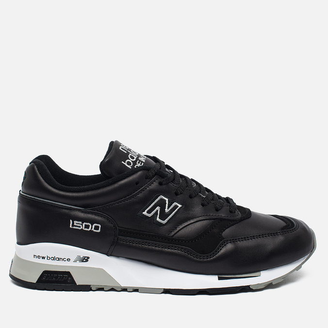 Мужские кроссовки New Balance M1500BK Leather Black/White