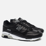 Мужские кроссовки New Balance M1500BK Leather Black/White фото- 1