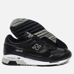Мужские кроссовки New Balance M1500BK Leather Black/White фото- 2