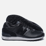 Мужские кроссовки New Balance M576LKK Grain Leather Black фото- 1