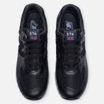 Мужские кроссовки New Balance M576LKK Grain Leather Black фото- 4