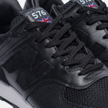Мужские кроссовки New Balance M576LKK Grain Leather Black фото- 5