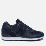 Мужские кроссовки New Balance M576LNN Grain Leather Navy фото- 0